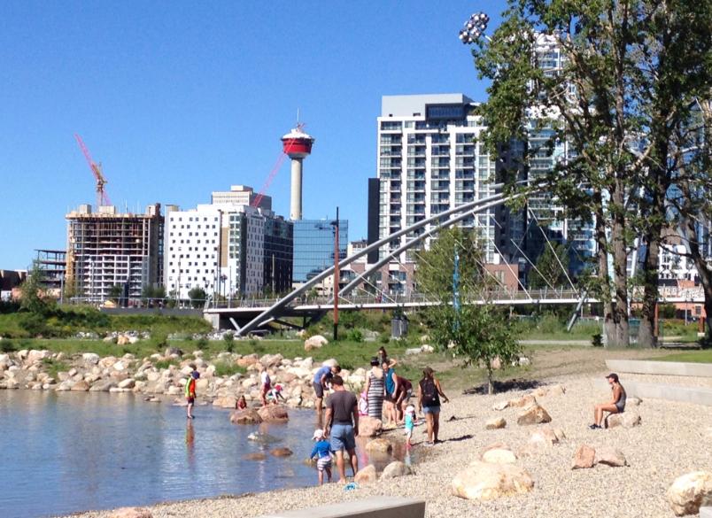 St. Patrick's Island Park is Calgary newest urban playground.