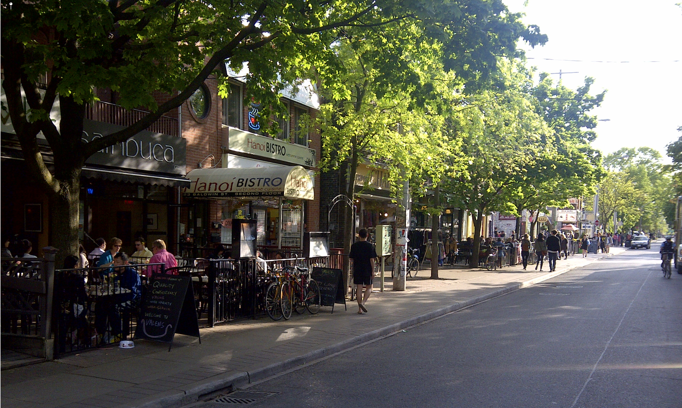 Toronto's City Centre is blessed with several urban villages with active street life.
