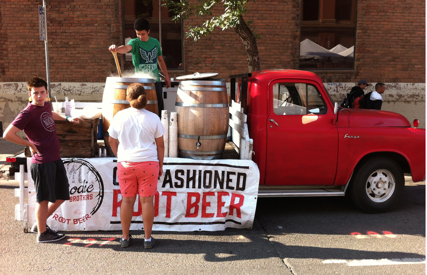 Who doesn't like old fashion root beer delivered in a vintage truck.