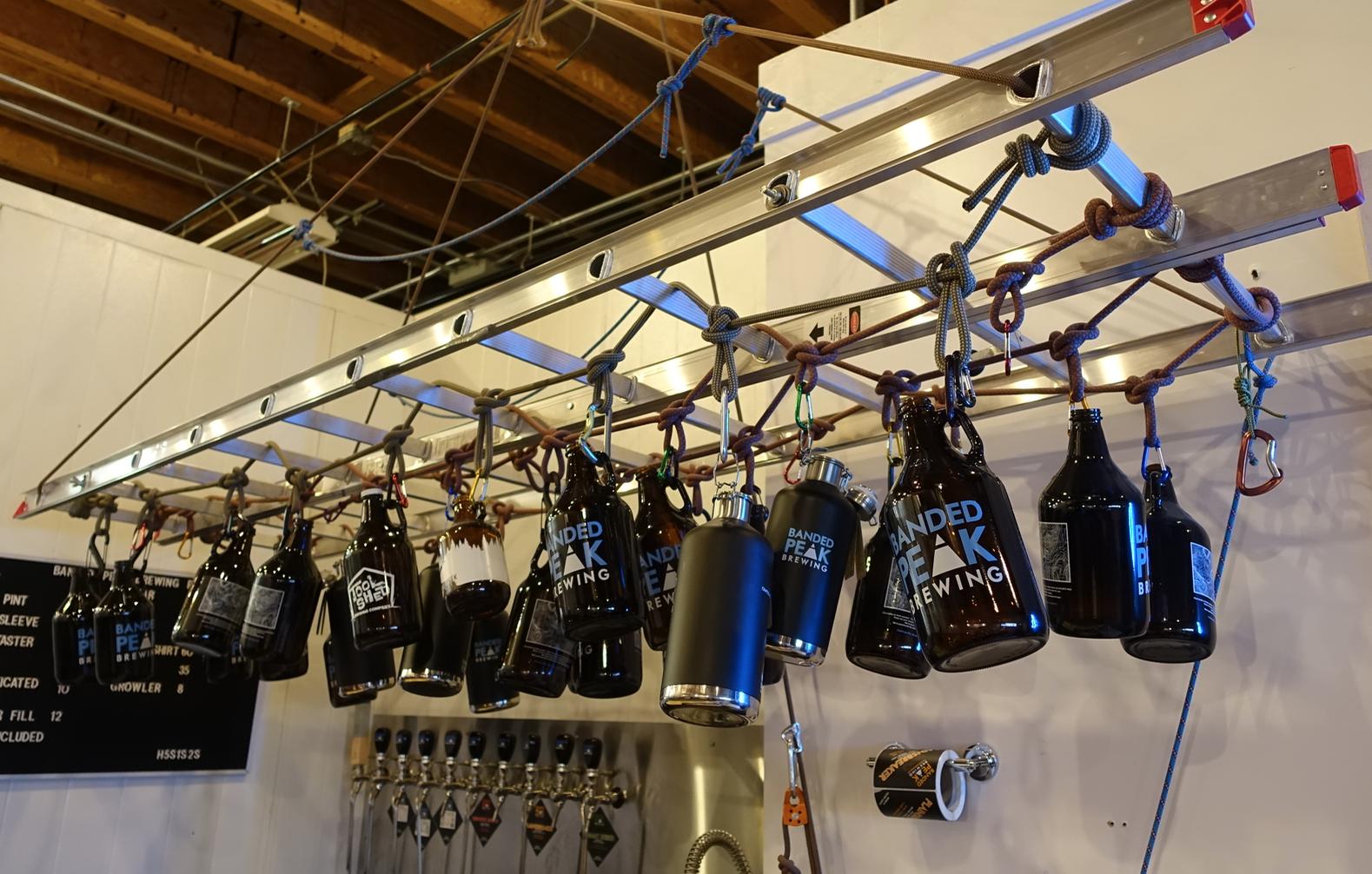 Banded Peak Brewery  growlers.