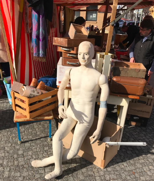 You never know who you might meet at a flea market.