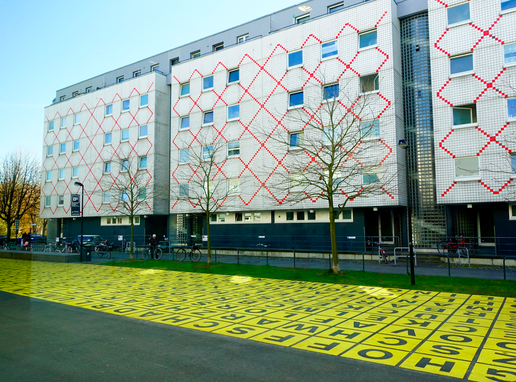 Loved this yellow plaza and apartment block next to the Berlinische Galerie, which is a must see in our minds.