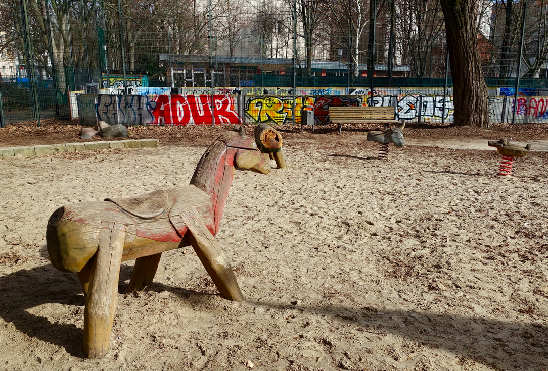 Soon we encountered another playground with more mythical creatures.