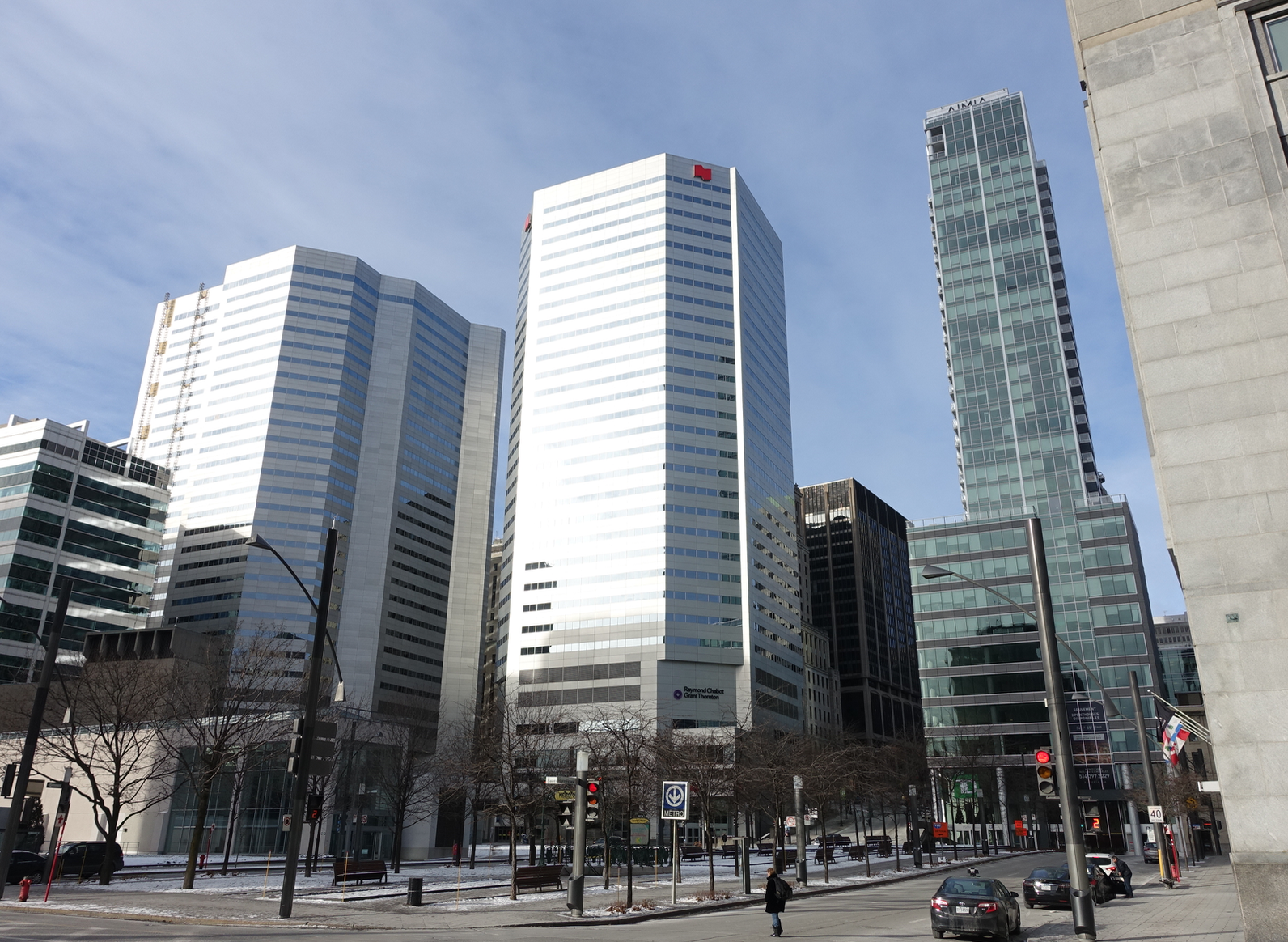 The streets around Montreal's office towers are devoid of people and animation, as they are in every city.