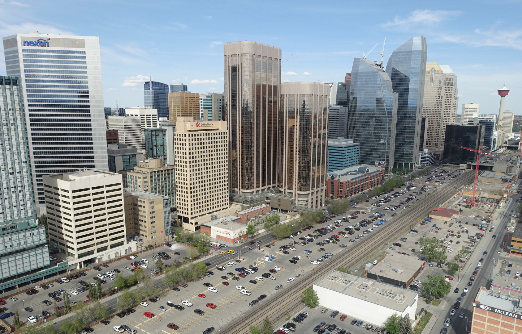 Downtown Calgary is dominated by office buildings.