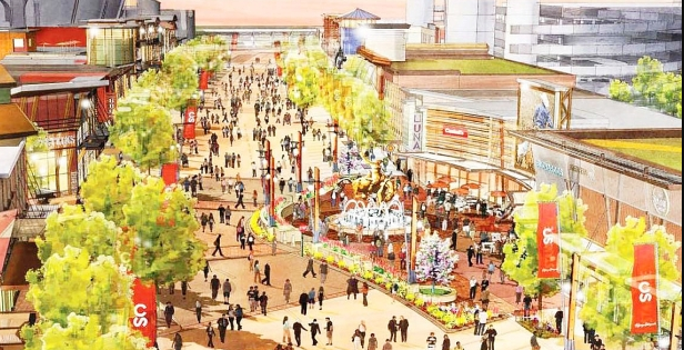 Proposed Stampede Trail would create a year-round pedestrian street based on Stampede theme.