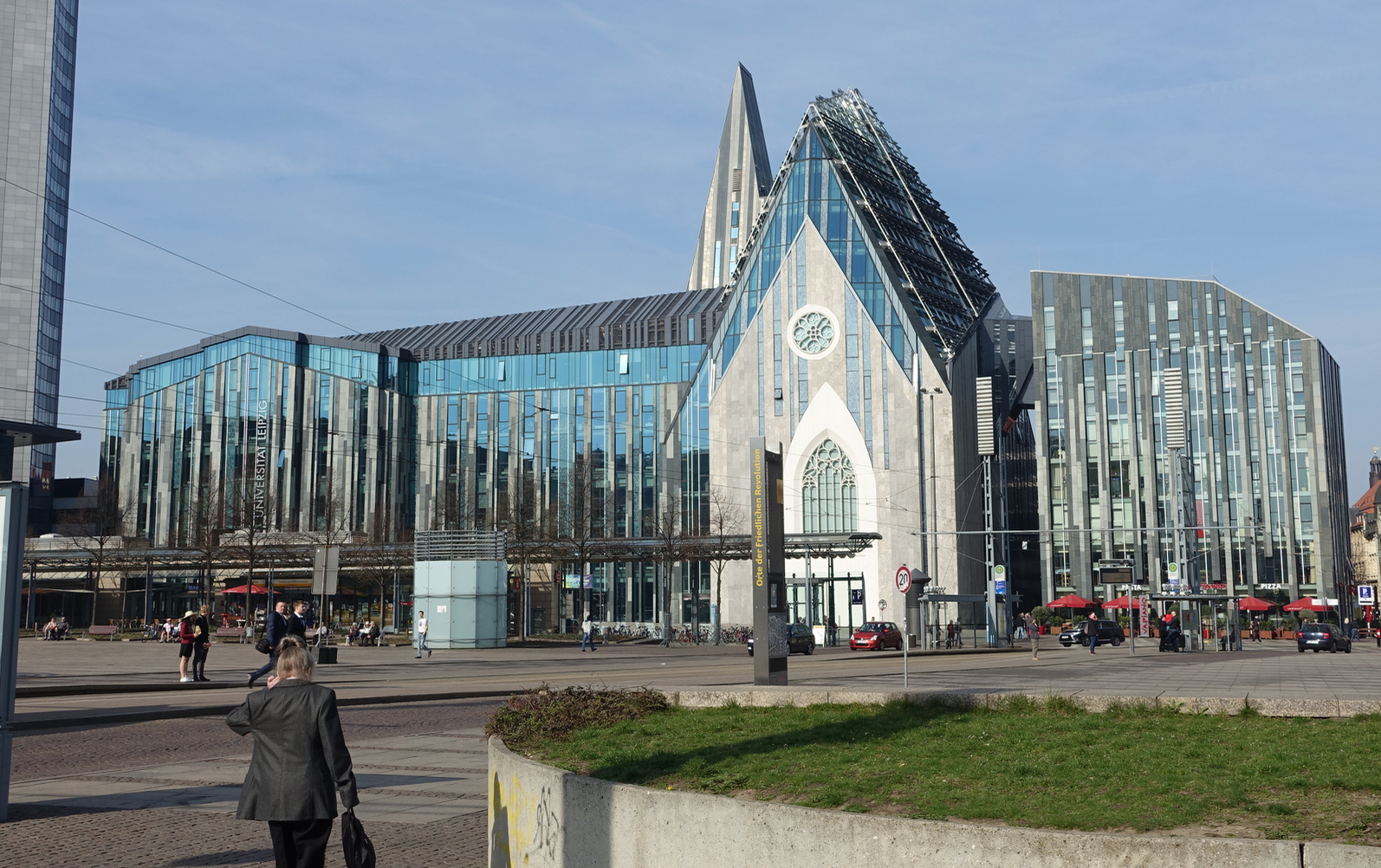The  Paulinum  at the  University of Leipzig  stands where the  Paulinerkirche  church stood until 1968, when it was unnecessarily torn down by the communist regime of  East Germany .