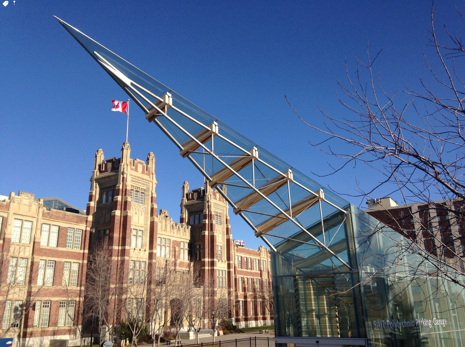 The SAIT campus offers a wonderful juxtaposition of the old and new.