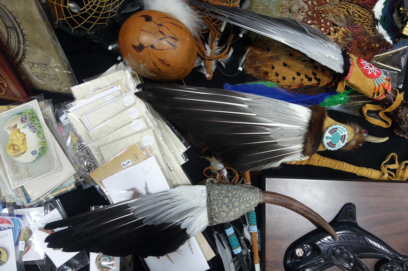 A flea market collage.