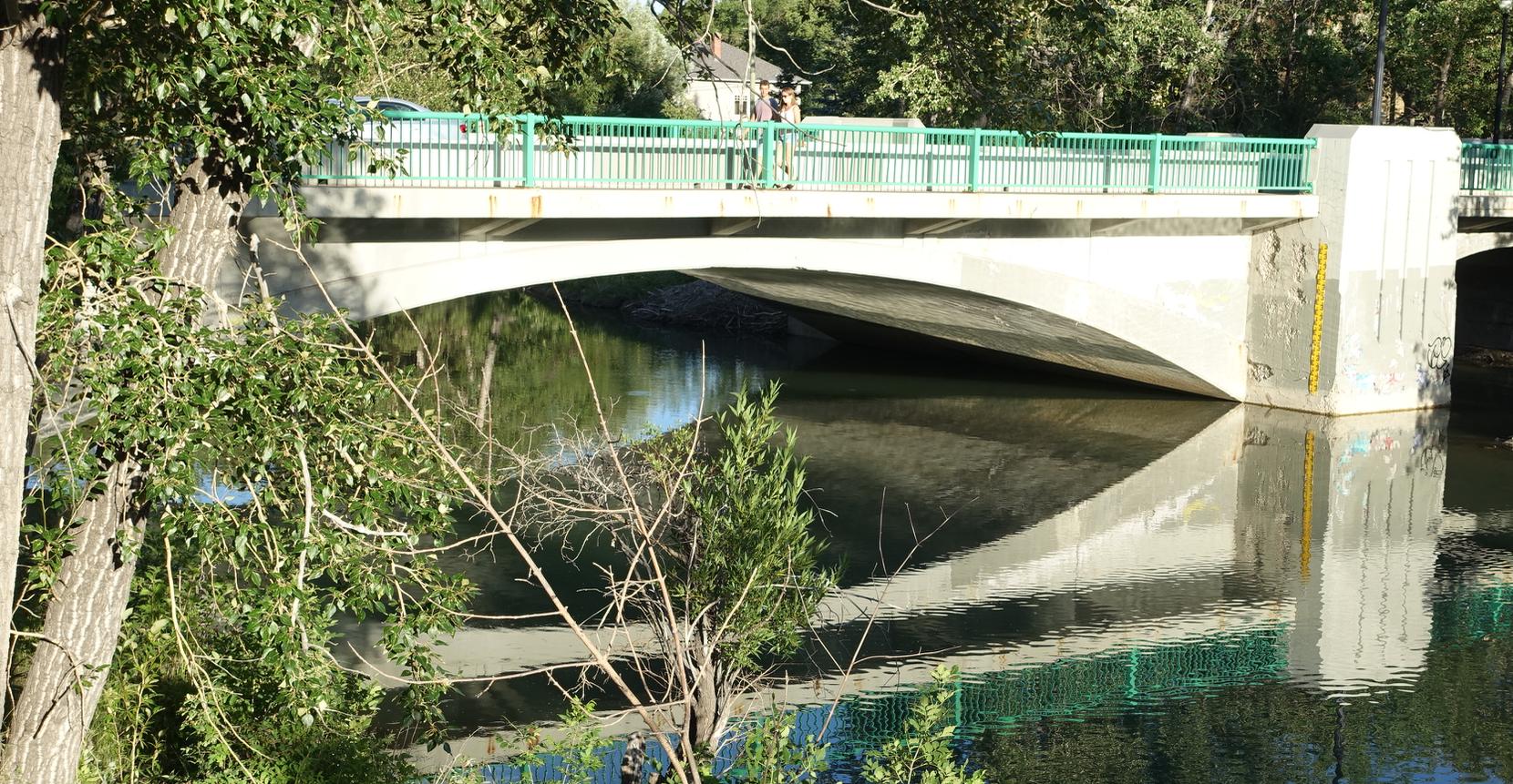 Mission bridge (1915) over the Elbow River