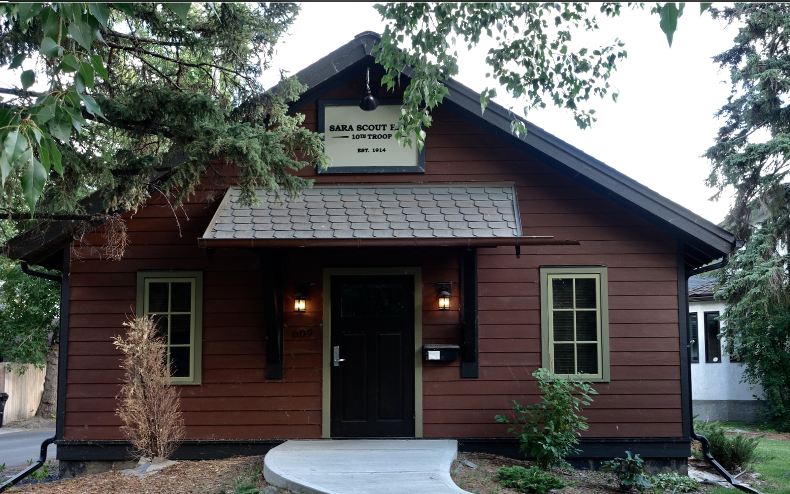 Fredric Sara brought scouting to Calgary. The Sara Scout Hall built in 1927, was heavily damaged in the 2013 flood, but has been restored. Link: History of Sara Scout Hall