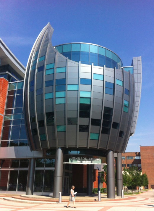 Over the past 15 years, Calgary's SAIT campus has added numerous modern buildings like the Johnson-Cobbe Energy Centre designed by Calgary's Gibbs Gage Architects.
