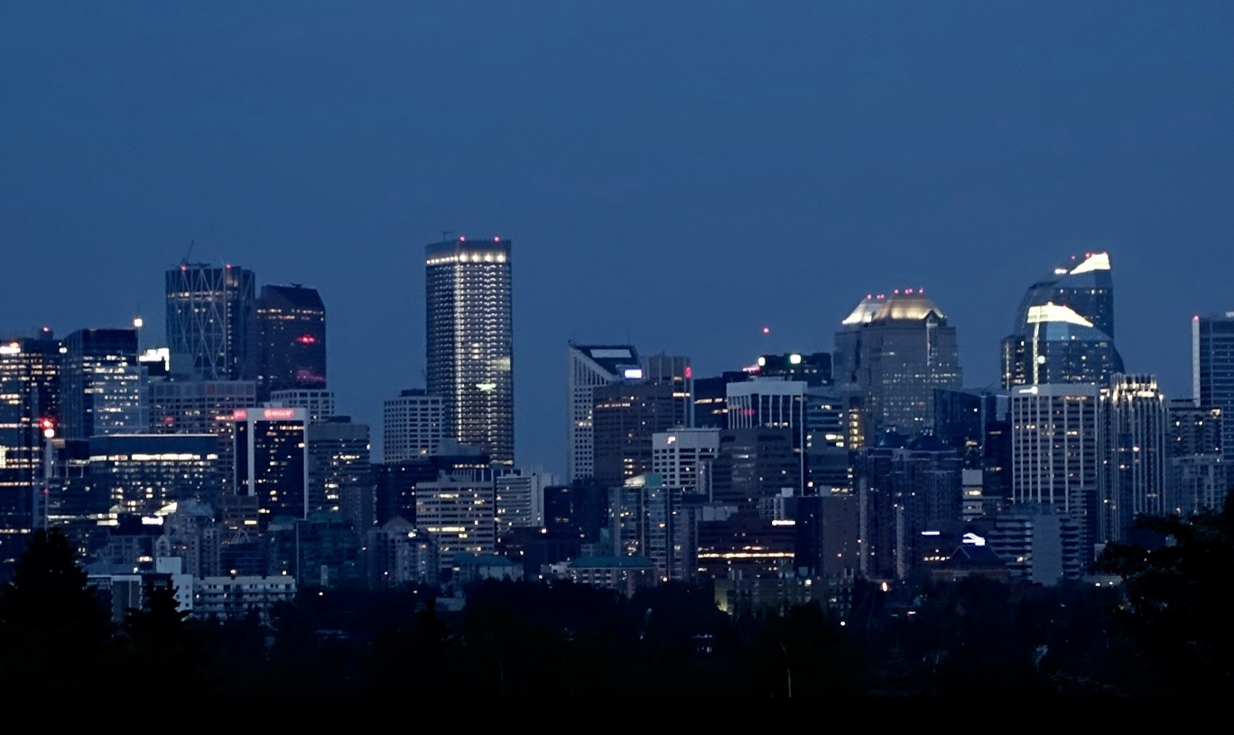 Calgary's magical blue at twilight.