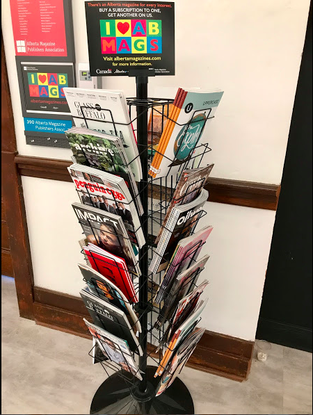 Love this magazine rack with a sample of the many great magazines published in Alberta.  It provided us with good reading for the rest of the weekend.
