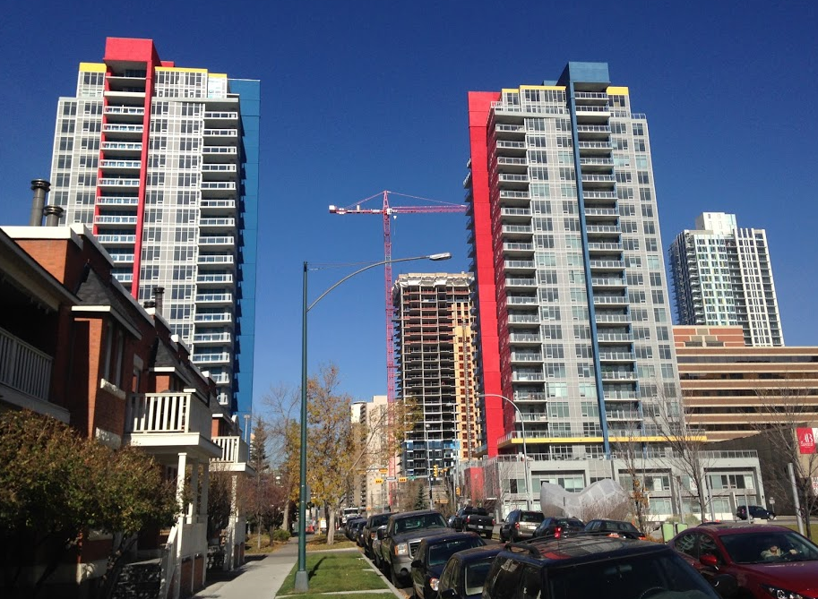You can find new condos on almost every other block in Calgary's Beltline community. It is Calgary's most dense and diverse community with 22,000+ residents.