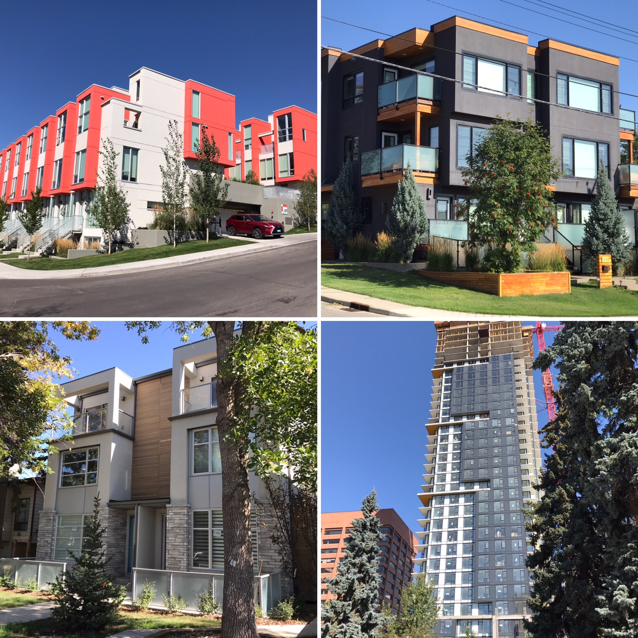 Calgary boast one of the most diverse inner city living options of any major city in North America, from mansions to cottages, from high-rises to mid-rises, from duplexes to row homes. There is new construction on almost every other block within 10 km of downtown Calgary.