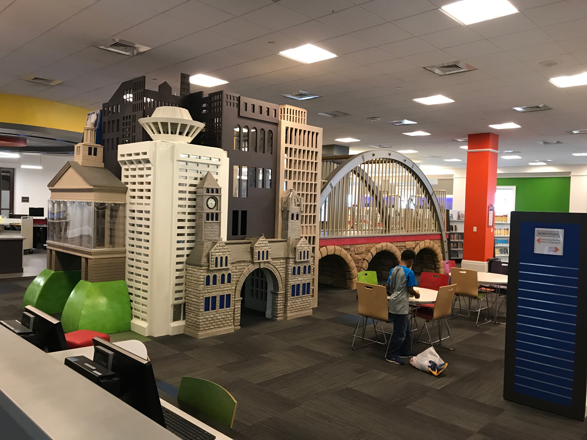 I loved that the theme of the children's library in the Nashville's Central Library was Nashville's iconic architecture.
