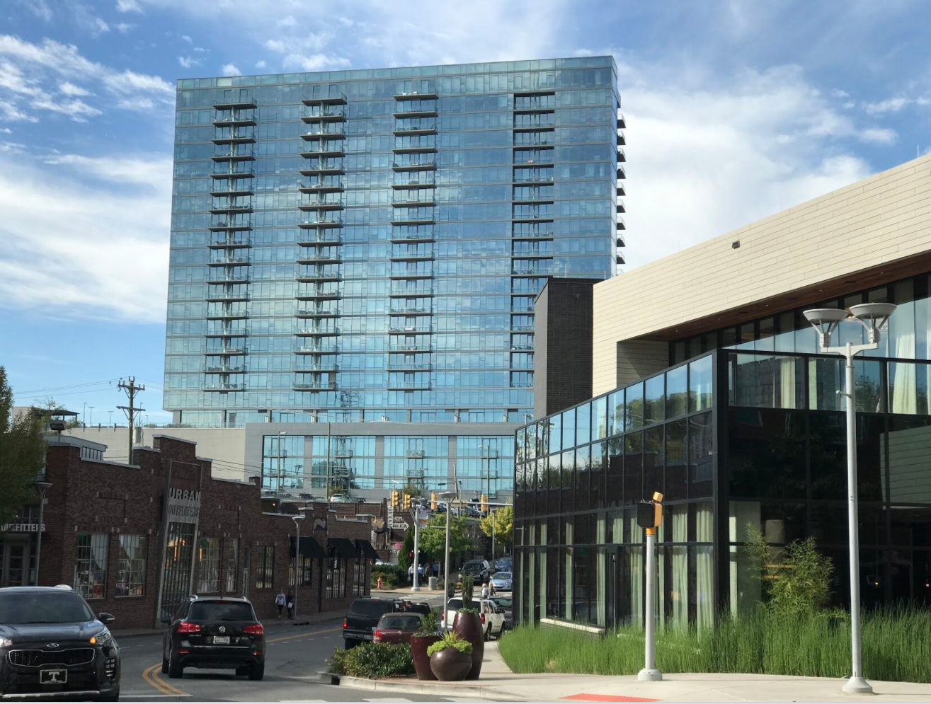 Nashville Gulch district is the equivalent of Calgary's Beltline with a mix of new residential, retail and office development.