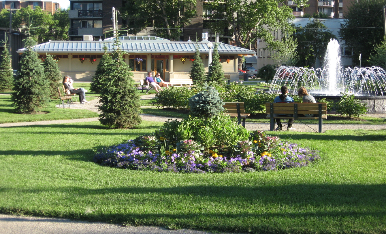 Memorial Park is one of many City Center parks in Calgary.