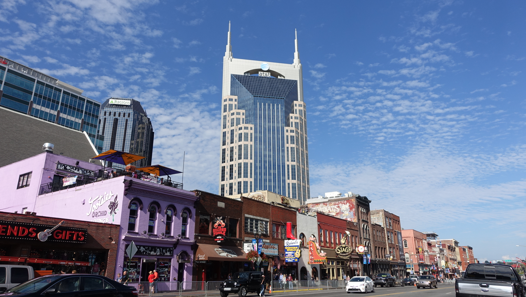 While Nashville's City Centre is undergoing a massive makeover, lower Broadway is still an eclectic collection of gritty buildings from yesteryears.