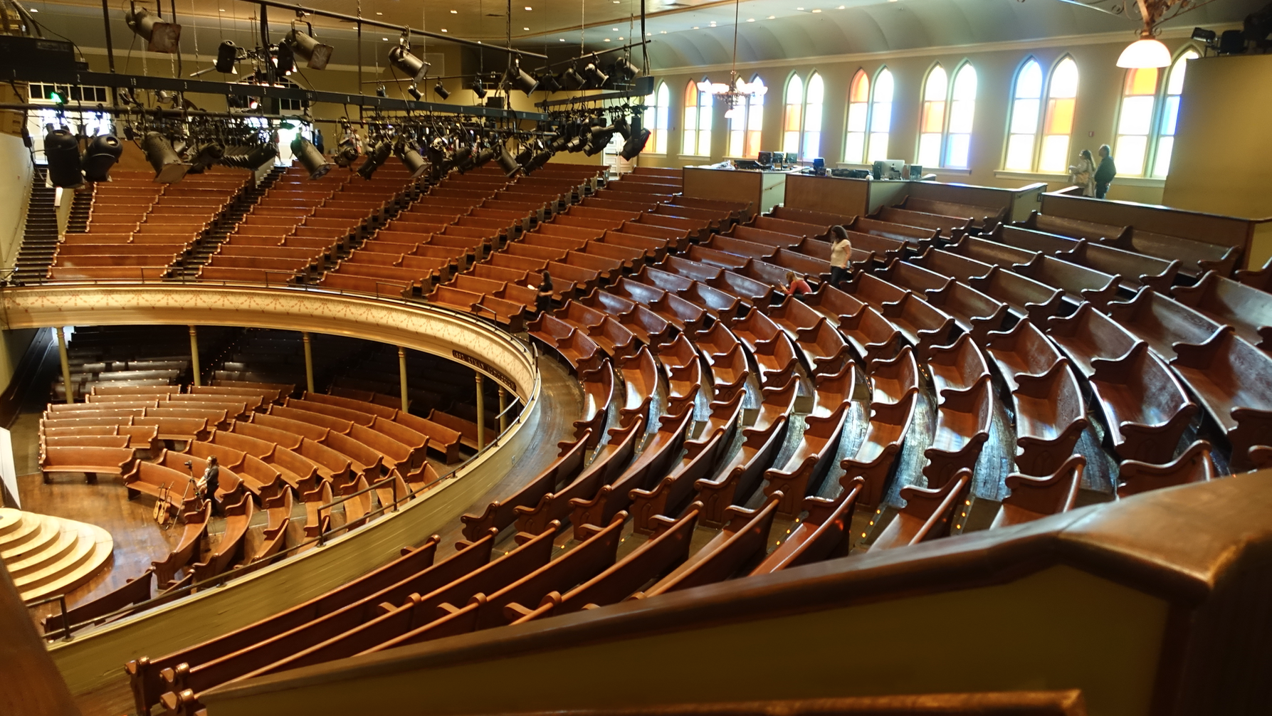 Nashville's Ryman Auditorium is the mother church of the city's music industry.