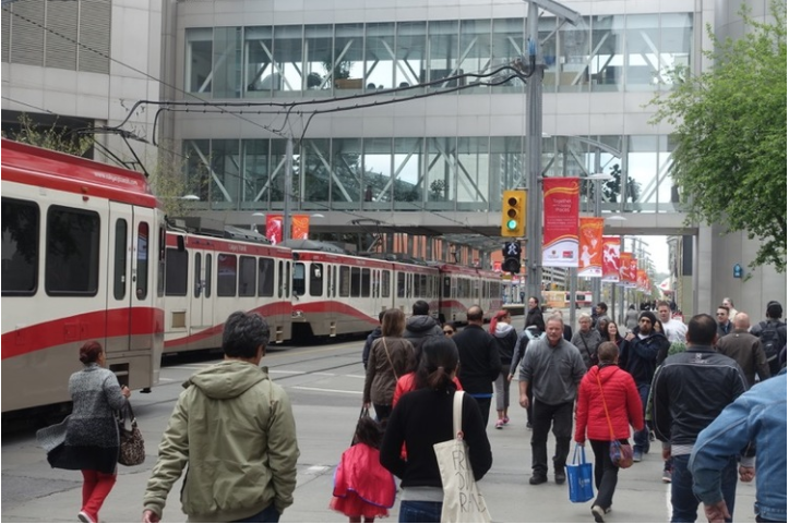 Nashville has nothing to match Calgary's LRT system and our 7th Avenue Transit Corridor.