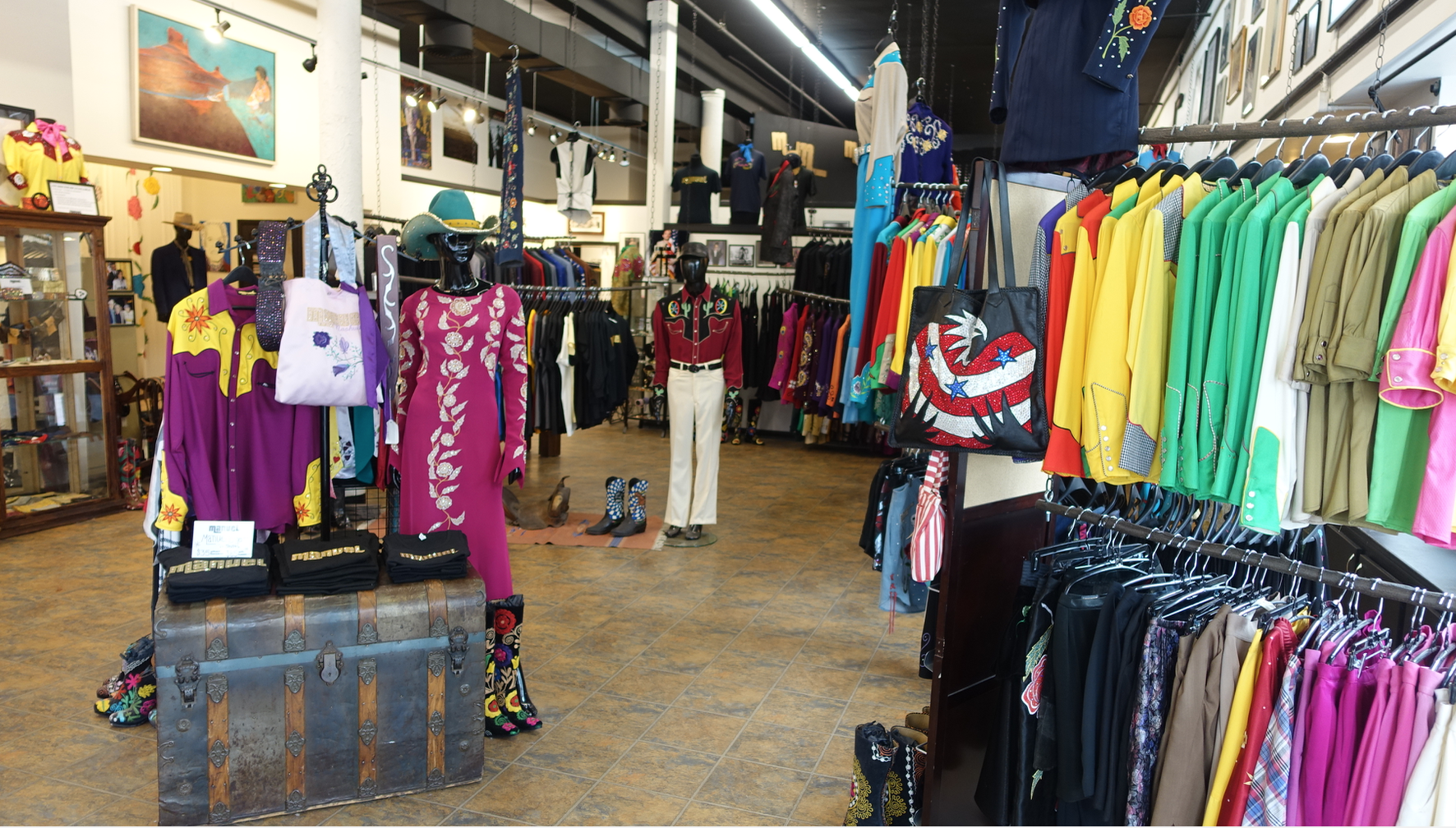 Nashville has dozens of specialty shops like Manuel Couture Clothing & Accessories that focus on fashions for musicians.