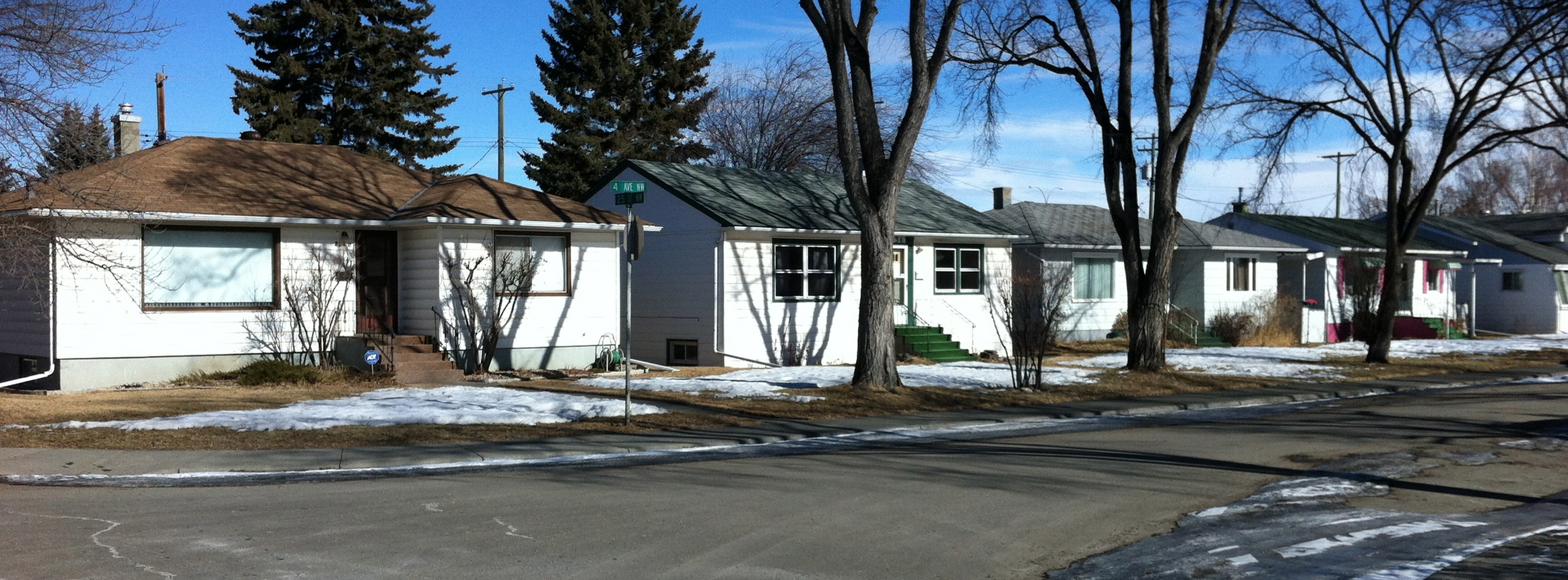 Calgary's inner-city communities were dominated by these small single story homes on 50 by 120 foot lots until the 1980s when new infill homes started to become popular.