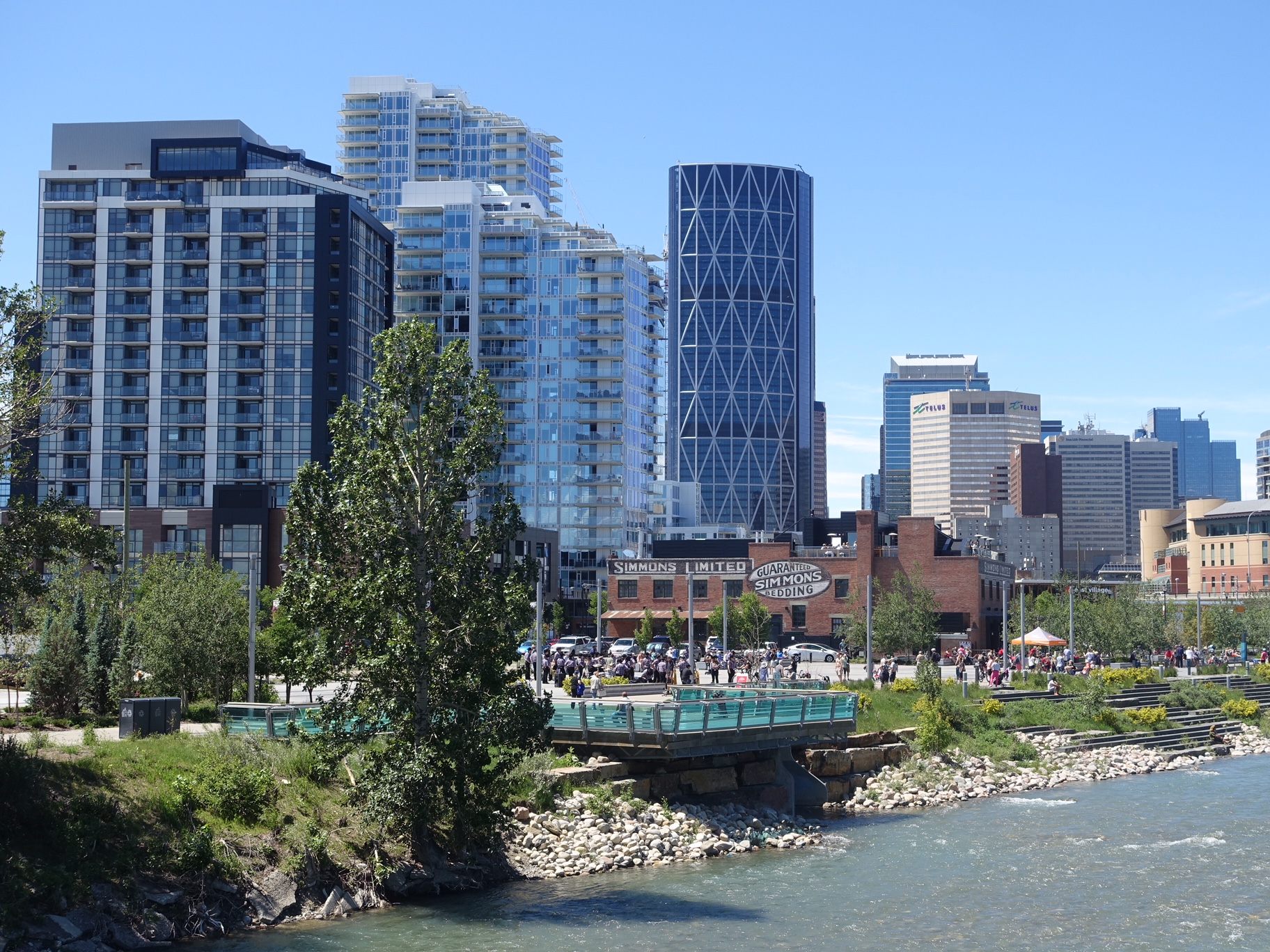 Nashville has nothing to match Calgary's riverside living be it in East Village, Eau Claire or Mission.