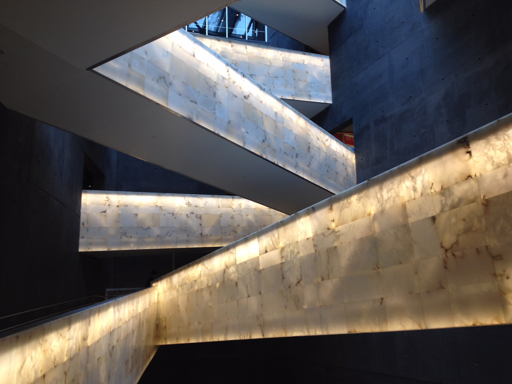 The ramp/stairwell of the Canadian Museum for Human Rights in Winnipeg has many of the same design vs function issues at the National Music Centre.