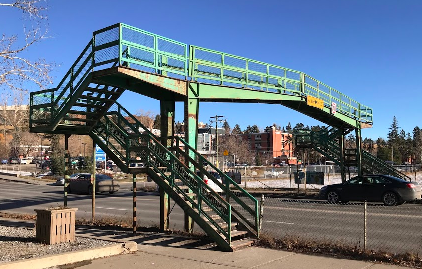 Pedestrian Bridge #1111 over 14th St NW connects the west and east half of the Hillhurst community.