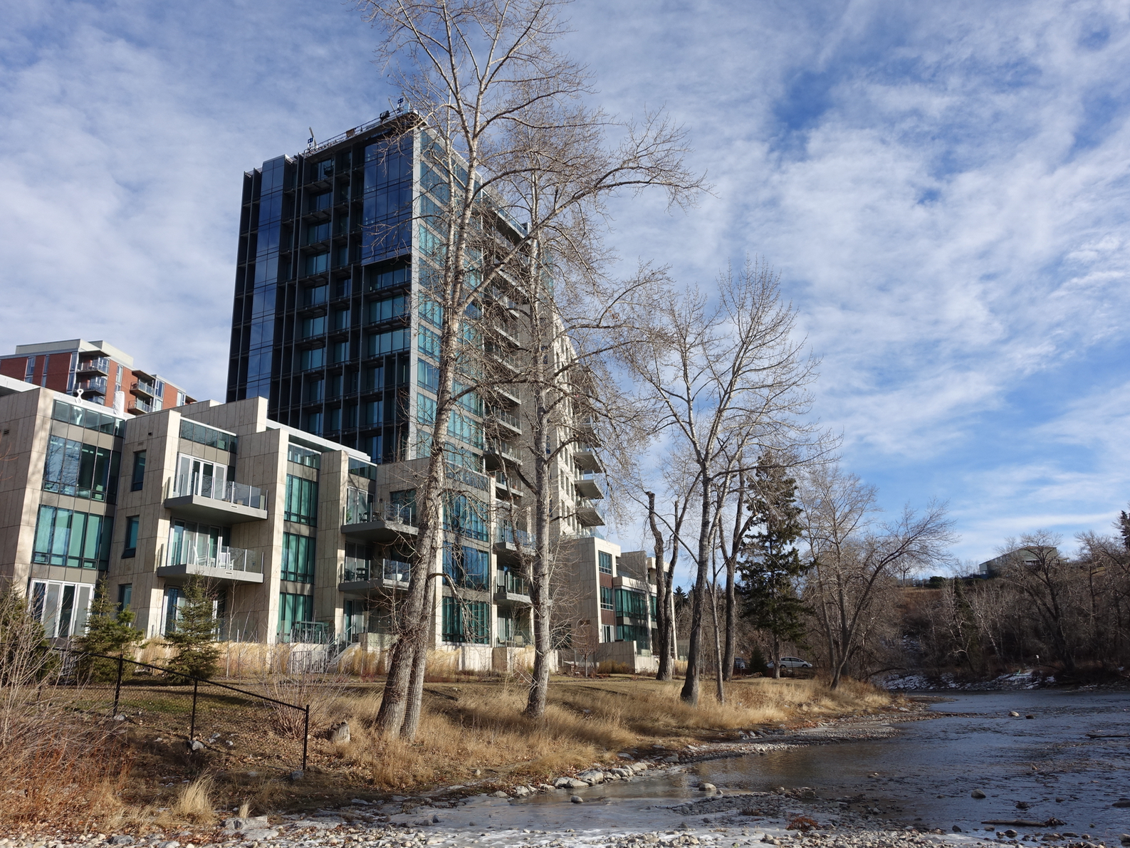 It is also home to multi-million dollar waterfront condos along the Elbow River.