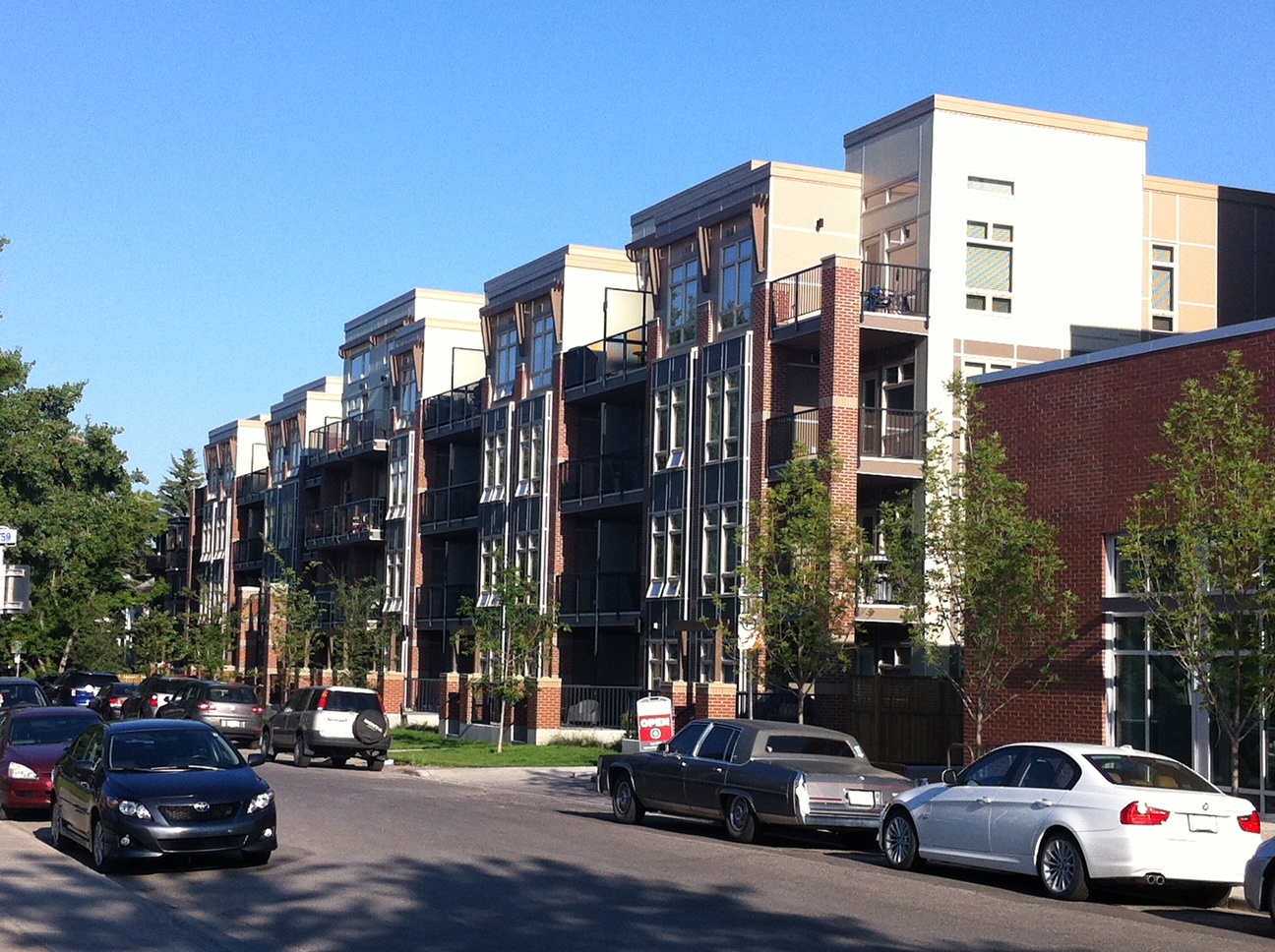 It is also home to lots of new low-rise condos.