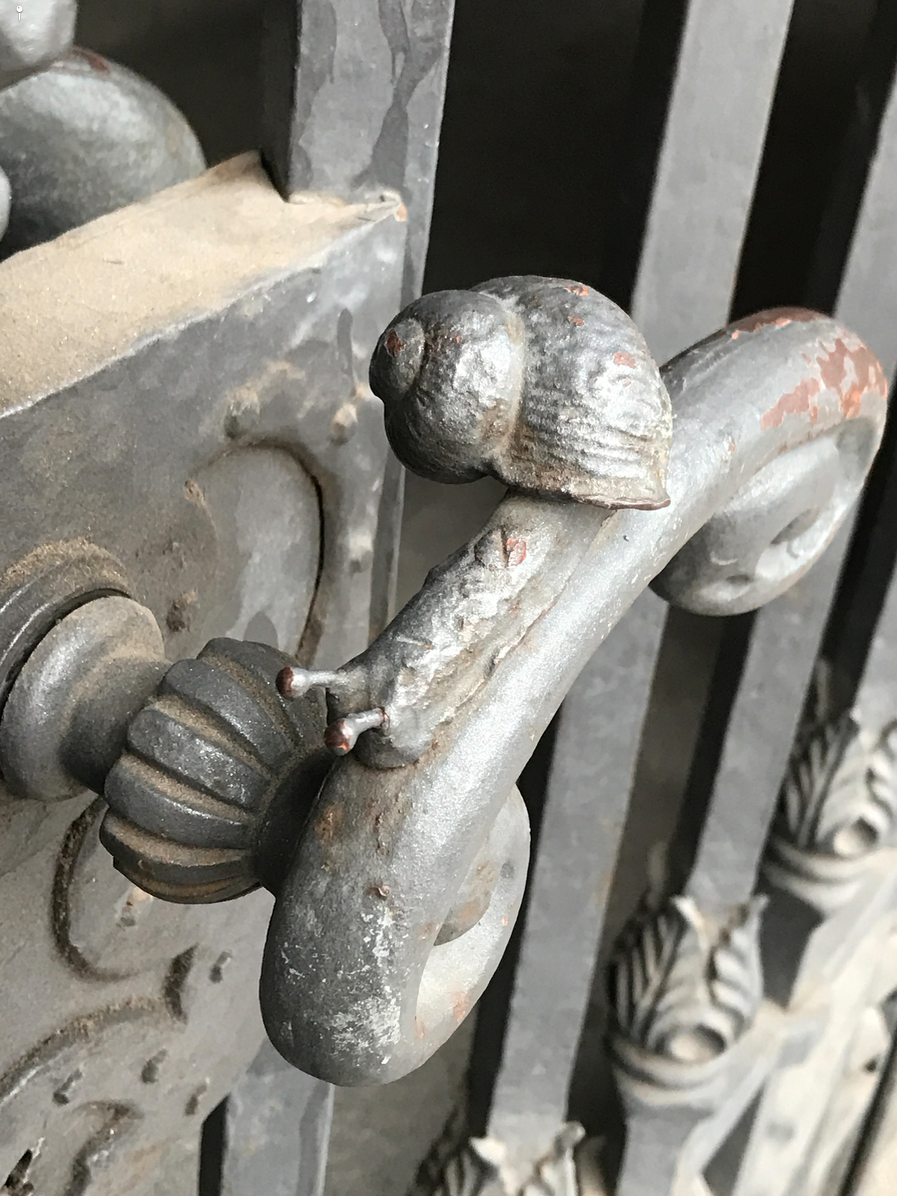 Snail's Pace, Leipzig  (Backstory: The snail on the handle of the historic Leipzig City Hall was placed there by a local craftsman to represents how slowly things move at City Hall )