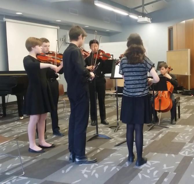 Last minute practice...(photo credit: Calgary Performing Arts Festival)
