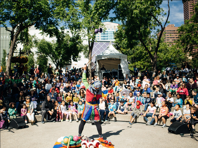 Outdoor performances at Olympic Plaza a free and fun for everyone. (photo credit: Calgary Arts Development)