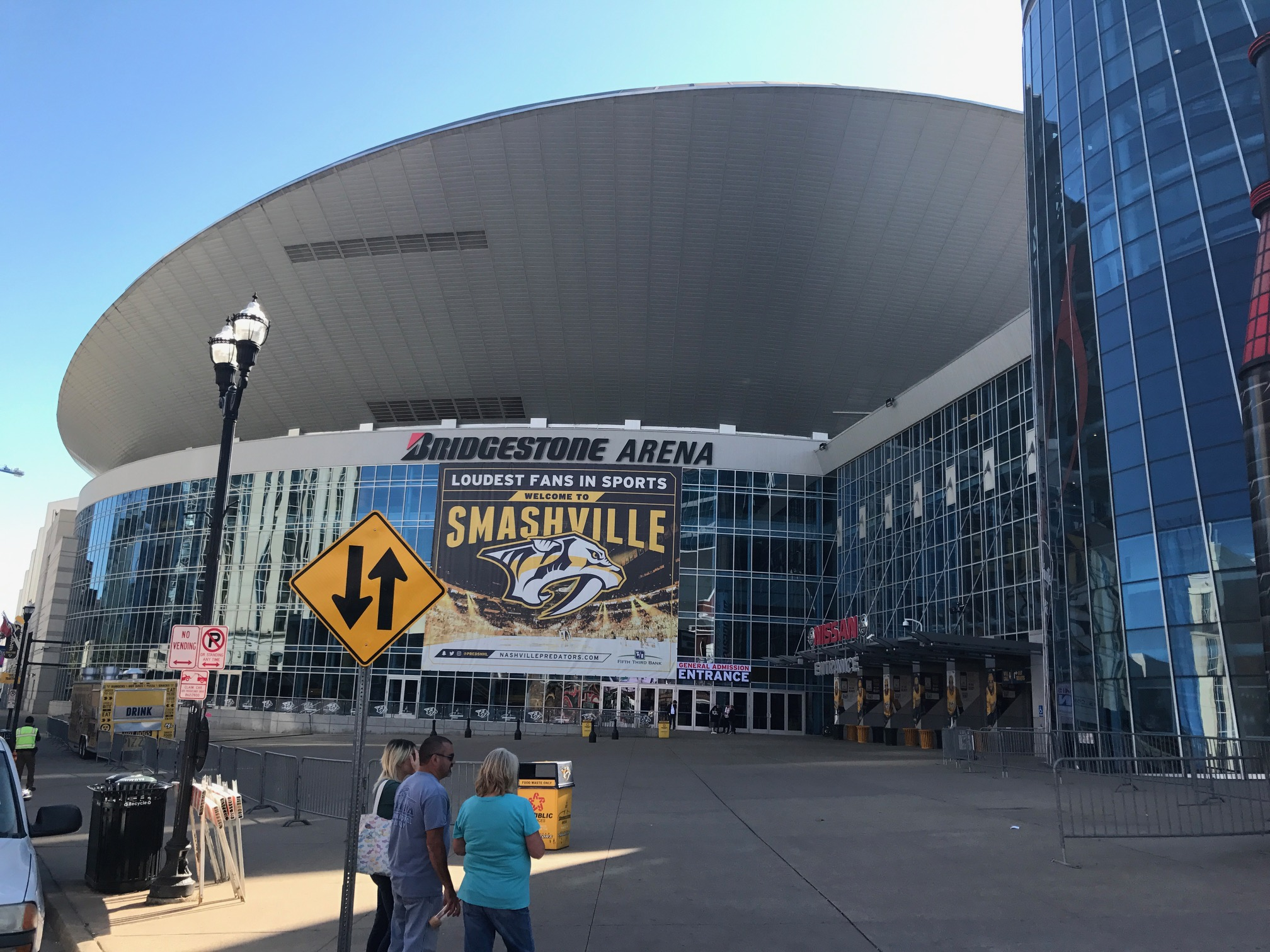 Bridgestone Arena plaza that open up to Lower Broadway is empty most of the time even though it is also home to Nashville Tourist Information Centre.
