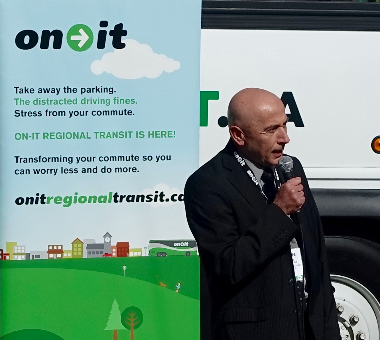 Ettore Iannacito, Regional Transit Program Manager, Calgary Regional Partnership was the master-mind behind On-It.