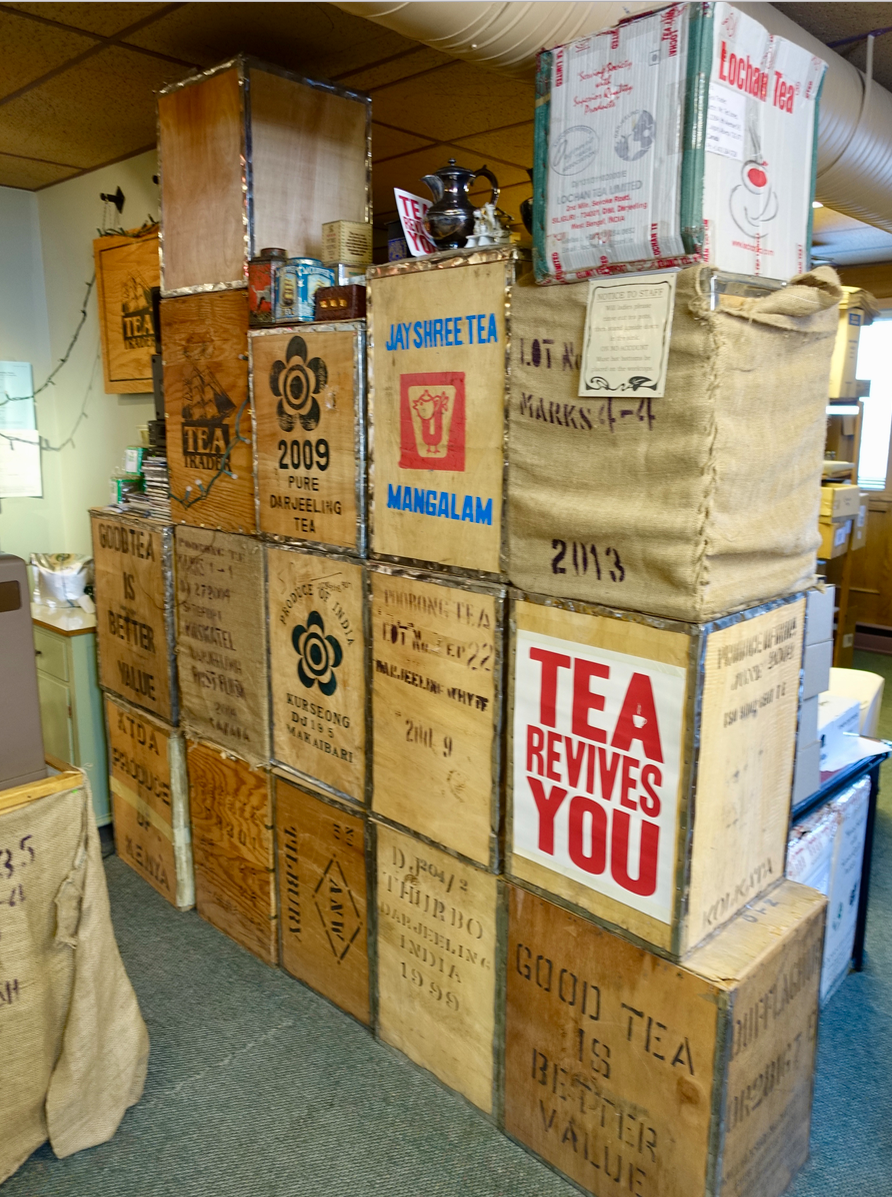Tea Trader's has the charm of an old world warehouse.