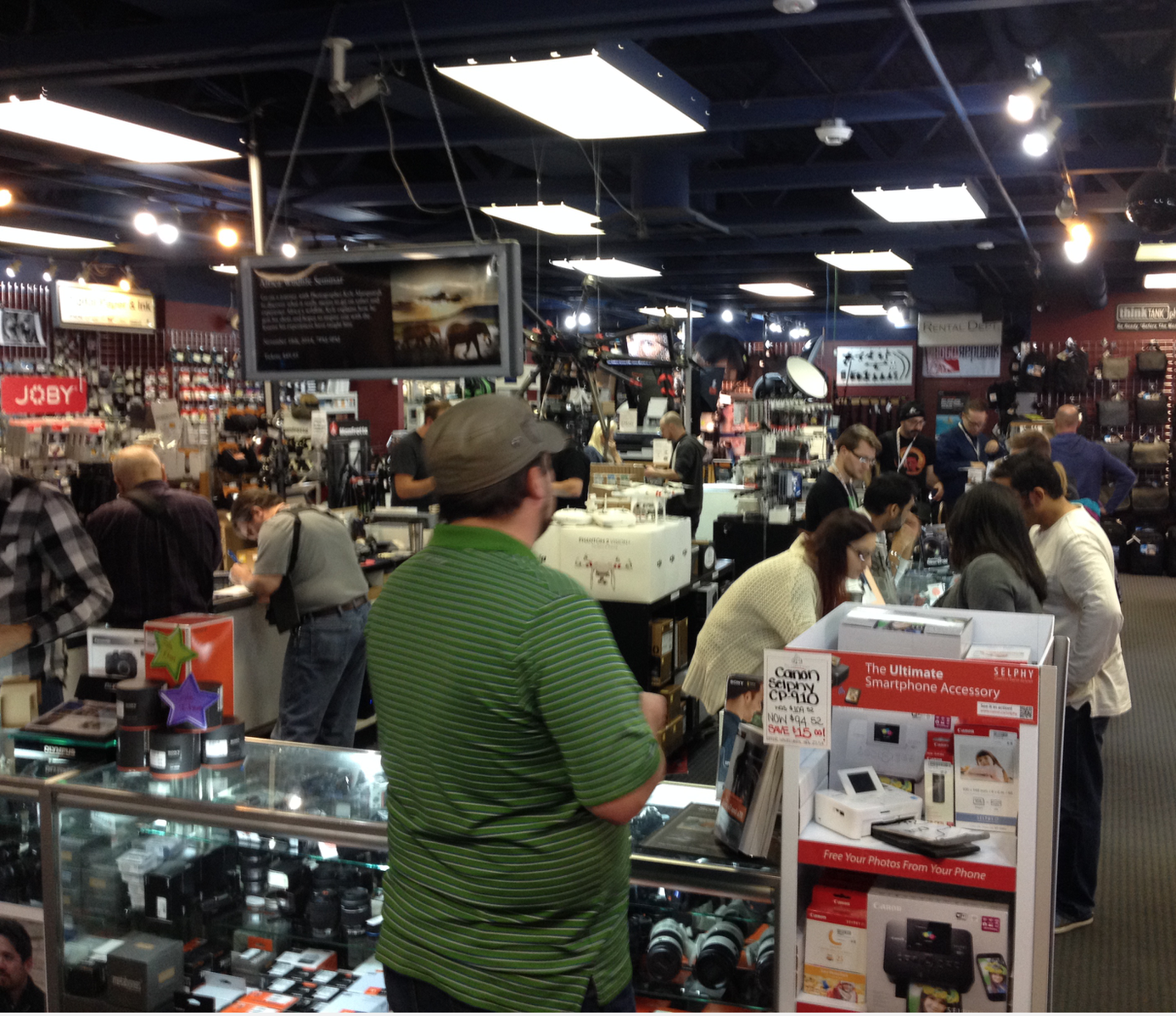 Every time I go to the    Camera Store    is it has a great buzz...I love this place.