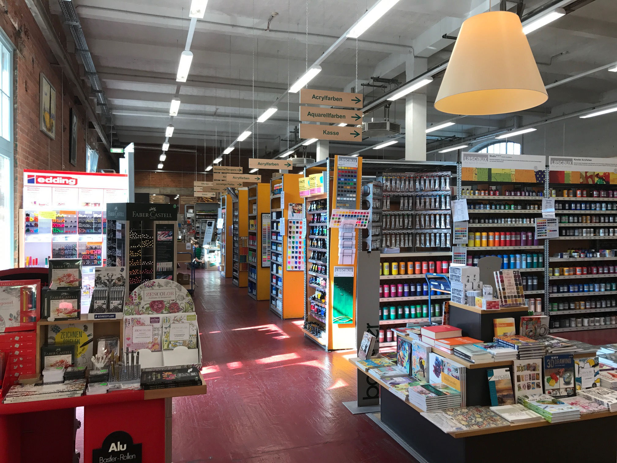 Huge art supply store located at Spinnerei art campus, Leipzig, Germany