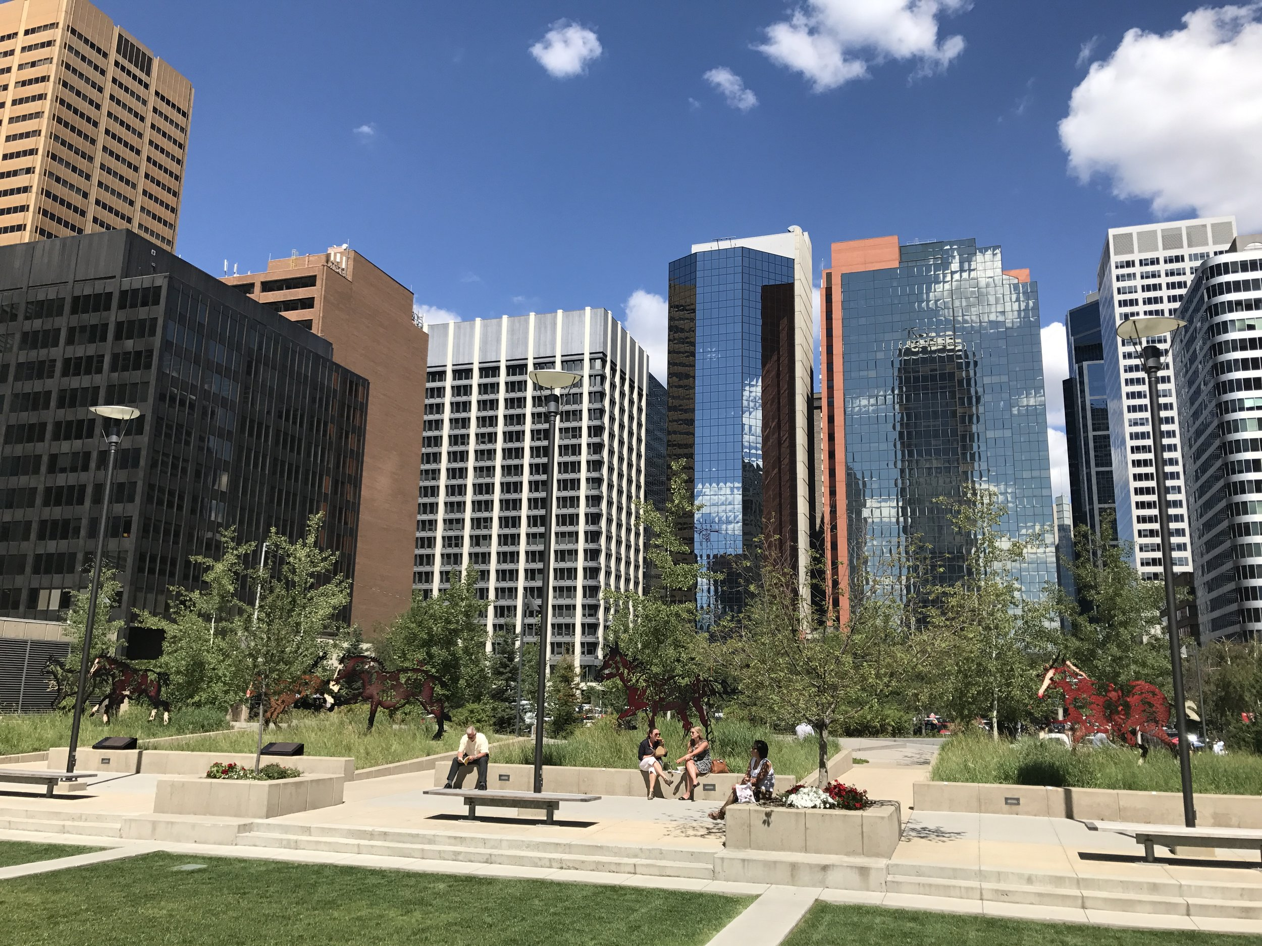 Many of the smaller, older office spaces in downtown Calgary have vacant space that could be converted into affordable and attractive work space for artists and other creative individuals.