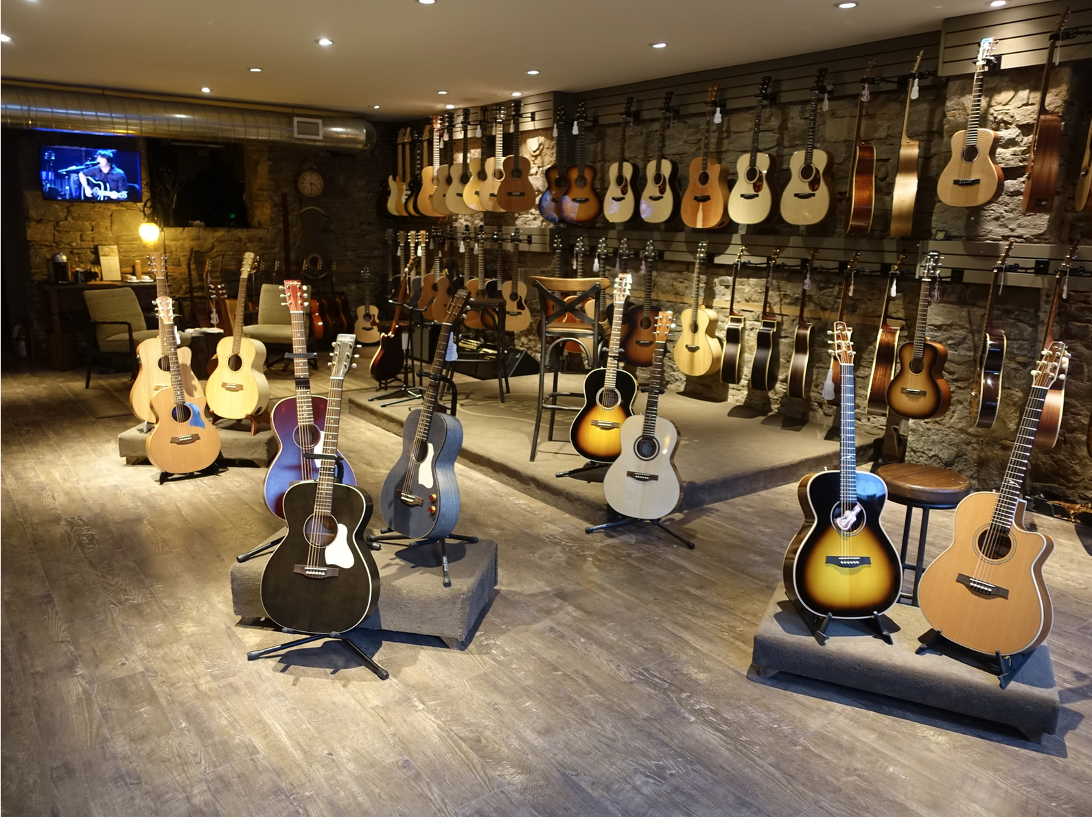 If you are into guitars you will want to check out The Acoustic Room on James St. N, near St. Joe's Hospital.  Yes, they only sell acoustic guitars.  It is like an art gallery for guitars.