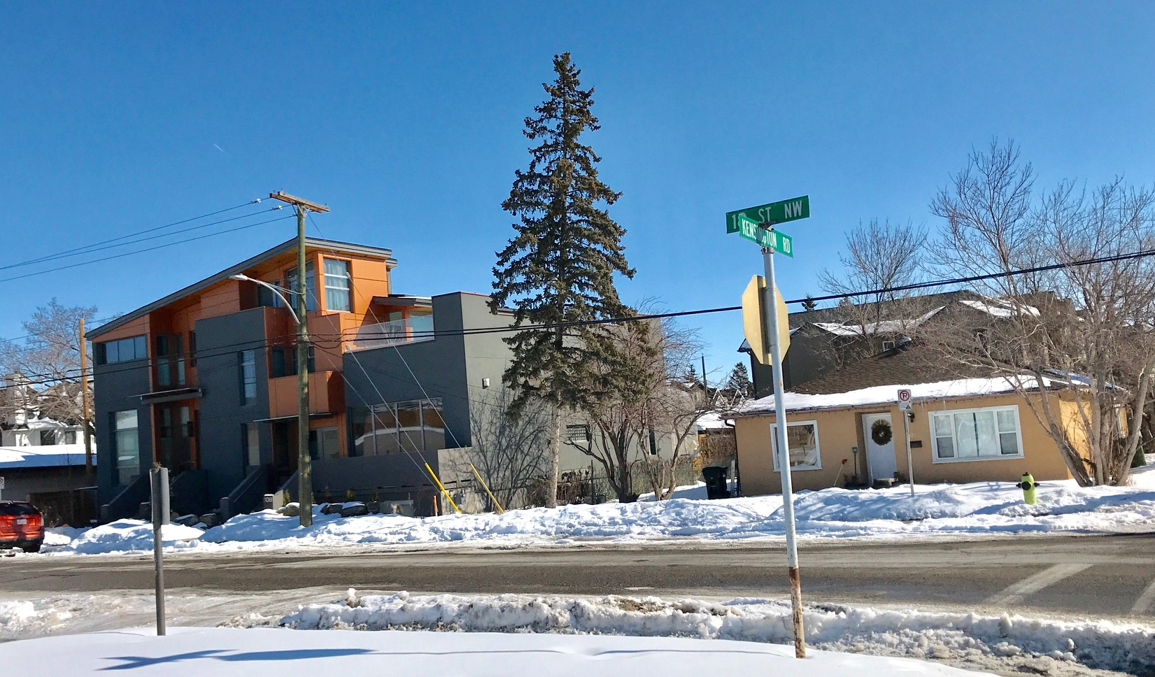Large contemporary two and three storey infill homes are slowly replacing the mid-century bungalows in most of Calgary's inner-city communities.