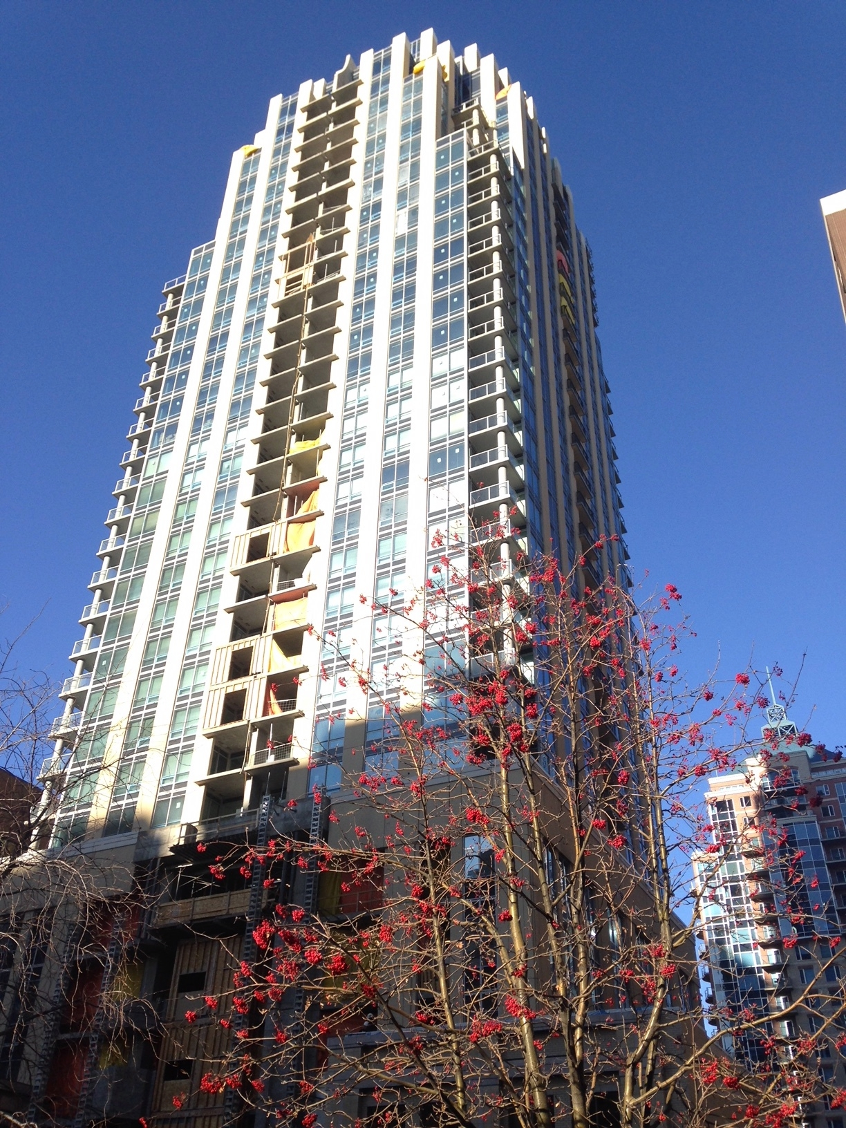 The new Vogue condo is located right in heart of downtown's commercial core.