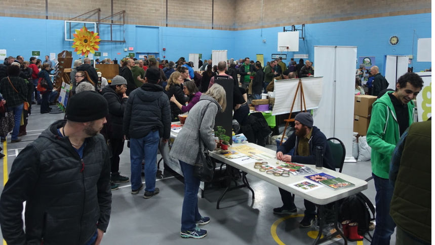Seedy Saturday created a real buzz at the Hillhurst/Sunnyside Community Centre, Saturday, March 17, 2018.