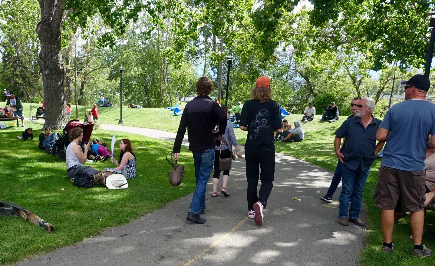 Stampede Park pathway stroll.
