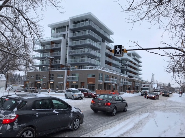 The new Ezra condo on 5th Avenue next to the Hillhurst/Sunnyside community centre was opposed by some community members.