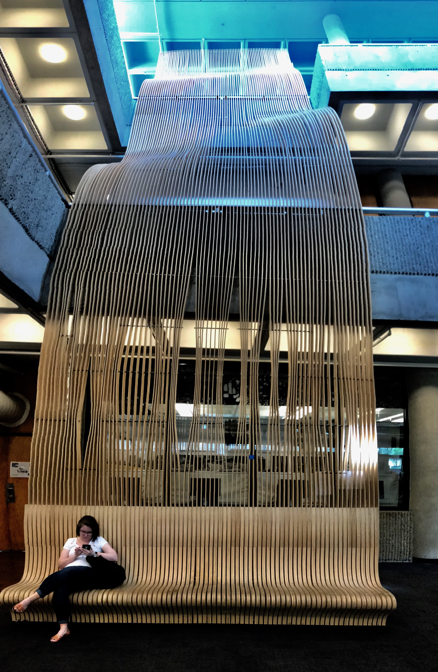 How fun is this three storey bench in the lobby of the Georgia Tech School of Architecture building?