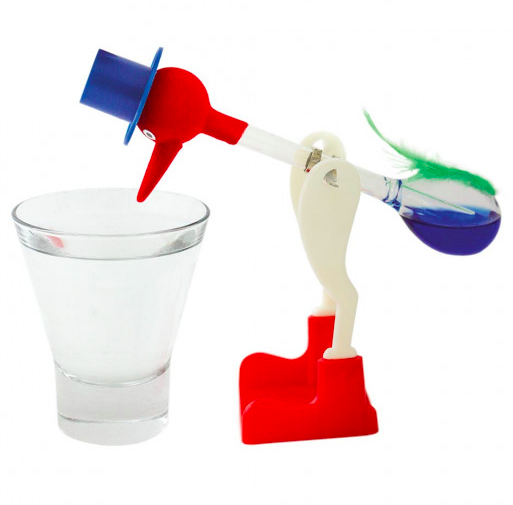 The science behind the drinking bird dates back to Germany in the 1760s. More info:    Drinking Bird